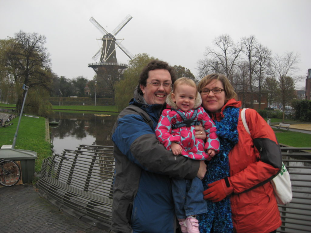 Janice and her family in their adopted homeland of the Netherlands