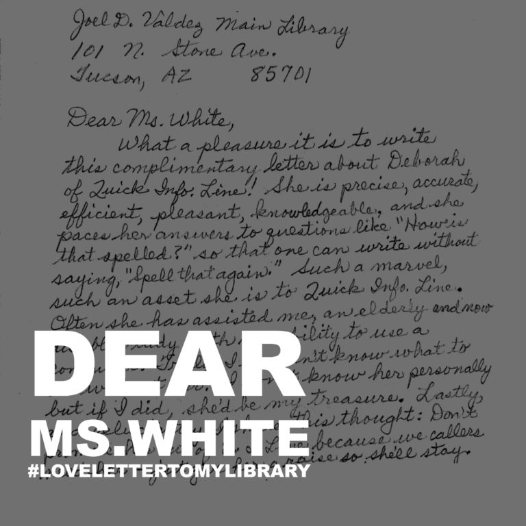 love letter to my library infoline
